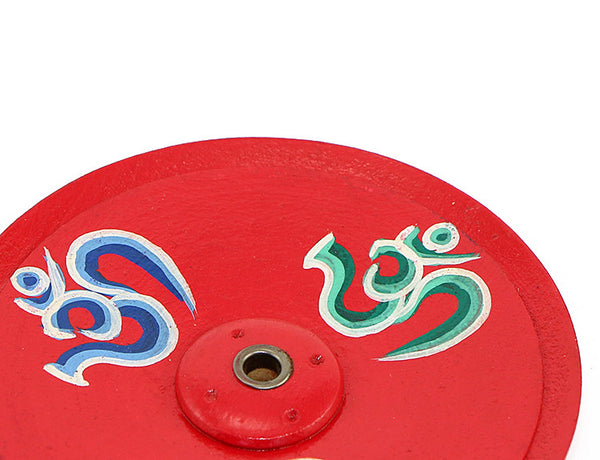 Om Symbol Incense Burner Close Up