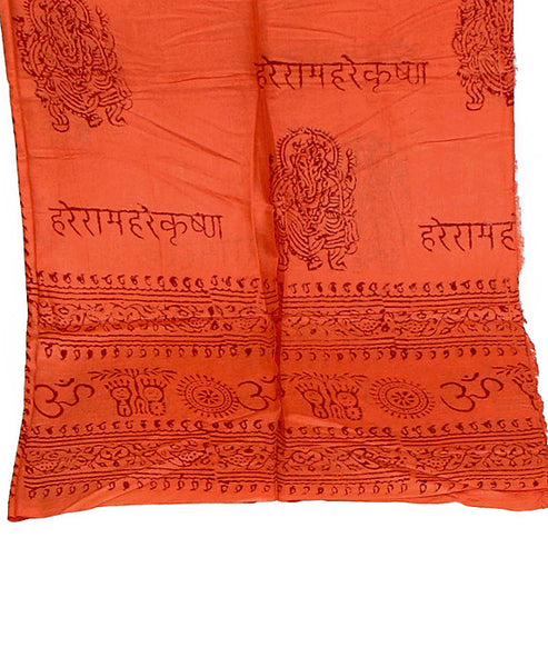 Orange Cotton Yoga Wrap Bottom Section