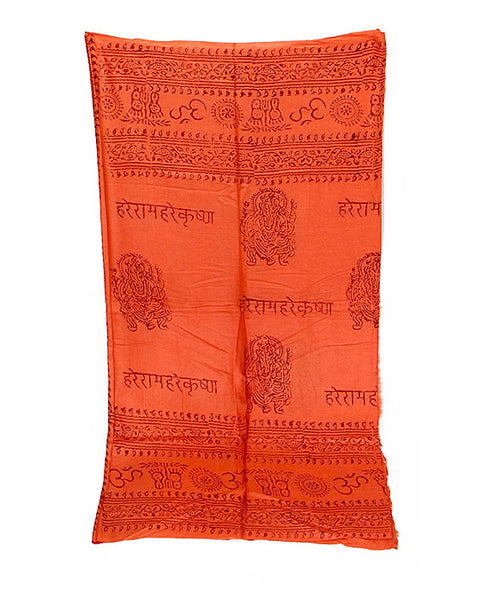 Orange Cotton Yoga Wrap