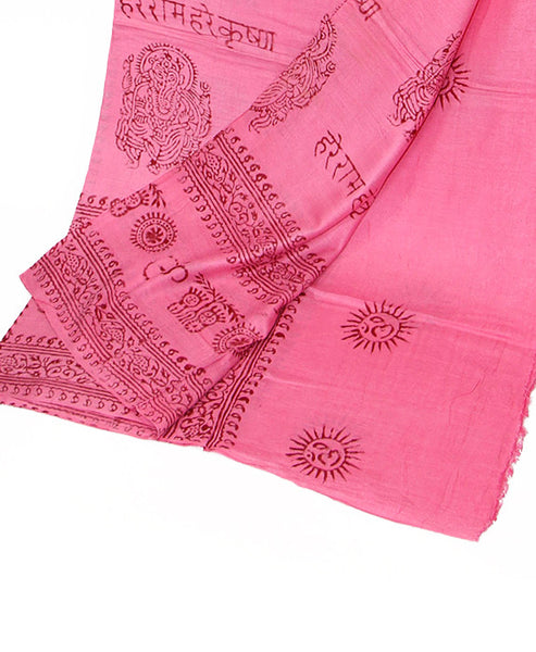 Pink Cotton Yoga Wrap Bottom Folded