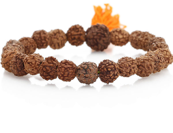 Rudraksha Mala Bracelet Close Up