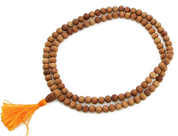 Sandalwood Mala Beads Top View