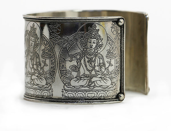 Tibetan Buddhist Bracelet Manjushri Close Up