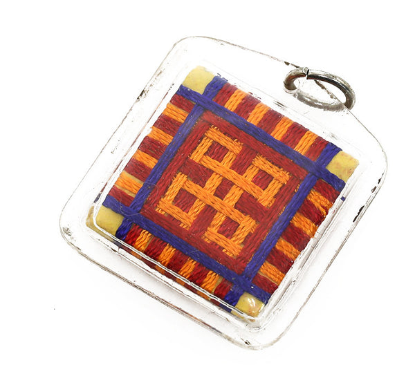 Tibetan Buddhist Prayer Pendant Medicine Buddha Thangka Back Side