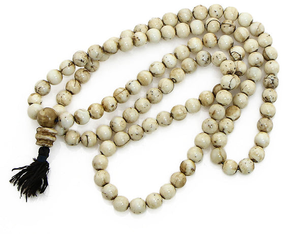 Tibetan Mala Beads Himalayan Pearl Top View