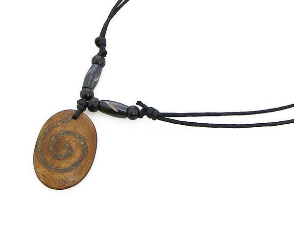 Tibetan Yoga Necklace with Inlaid Chakra Symbol Pendant