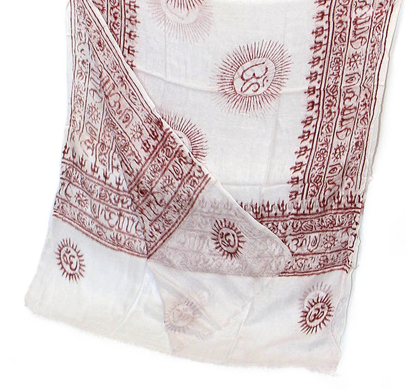 White Cotton Yoga Scarf