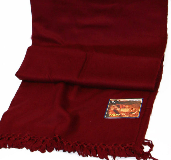 Yak Wool Red Tibetan Monks Shawl