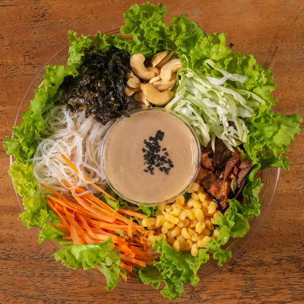 Asian Noodle Salad with Roasted Sesame Dressing (Sharing Size Good for 4 pax)
