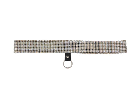 Dolce & Gabbana White Strass Belt, SS00, Size 40 IT / US 4
