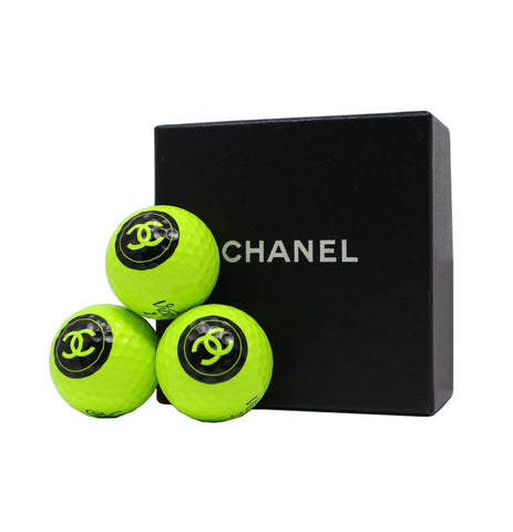 Chanel Set of 3 Vice Pro Golf Balls, With Box