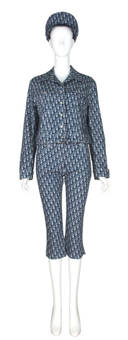 Christian Dior Monogramm Jacket & Pant Set, SS02, Size 4/6 US
