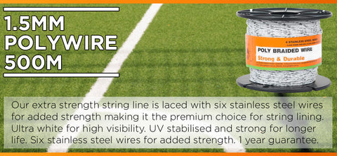 1.5mm PolyWire 500m - turfmate