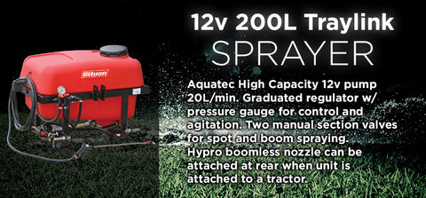 12V 200L Traylink Sprayer - turfmate