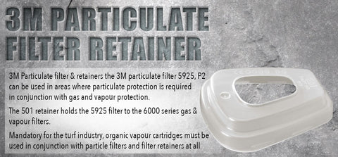 3M Particulate Filter Retainer - turfmate