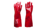 PVC red single dip chemical gloves - turfmate