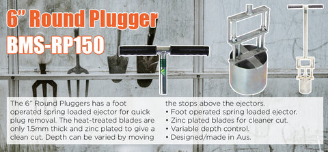 "6"" Round Plugger - turfmate"