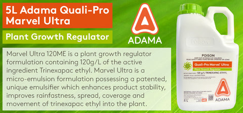 5L Adama Quali-Pro Marvel Ultra Growth Regulator (120g/L Trinexapac-ethyl)