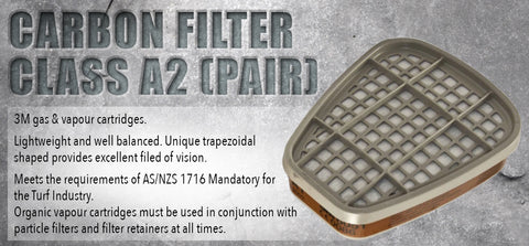 Carbon Filter Class A2 (pair) - turfmate