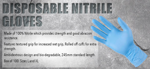 Disposable Nitrile Gloves - turfmate