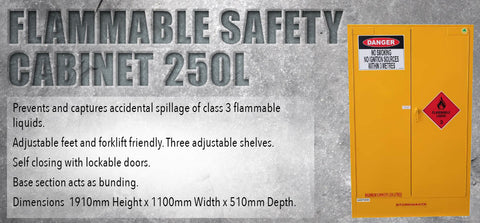 Flammable Safety Cabinet 250L - turfmate