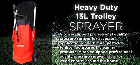 13 Litre Heavy Duty Trolley Sprayer - turfmate