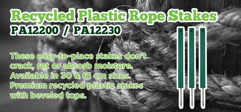 Recycled Plastic Rope Stakes - turfmate