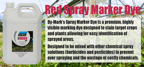 Red Spray Marker Dye - turfmate