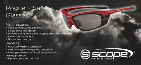 Rogue 2 Safety Glasses