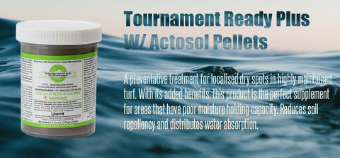 Tournament-ready plus with actosol pellets - turfmate