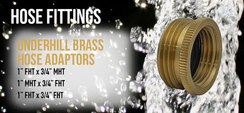 Underhill Brass Hose Adapters - turfmate