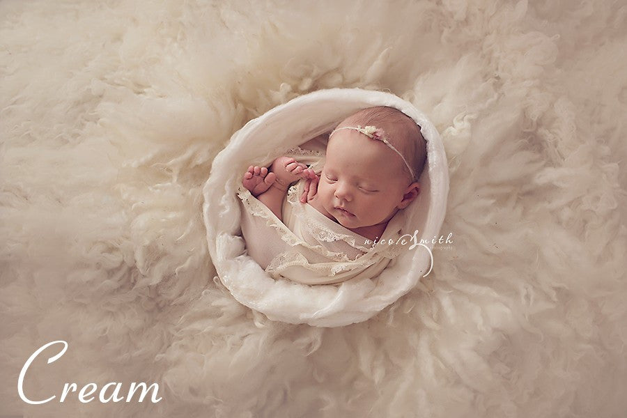 Mia Joy Ruffled Wraps - organic cream