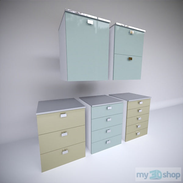PYTHA V24 Base Equal Drawer Cabinets