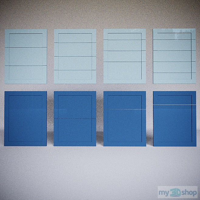 PYTHA V24 Drawer Fronts One Panel Shaker