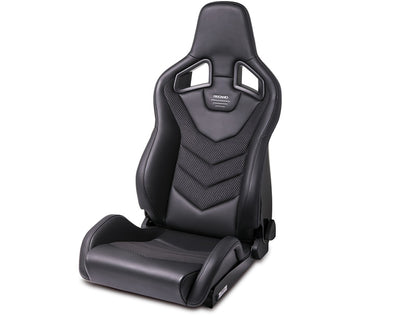 Recaro Sportster GT Seat Black Leather / Carbon