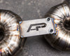 Agency Power Satin Titanium Performance Racing Muffler Porsche 991 Turbo 14-17