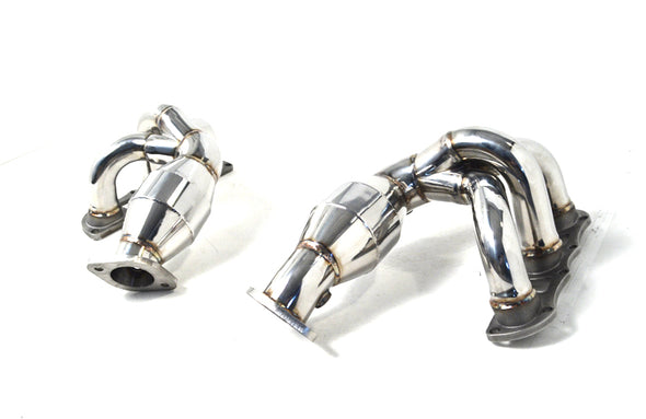 Agency Power High Flow Cat Headers Porsche 981 Boxster Cayman 13