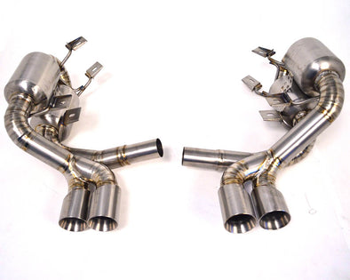 Agency Power Titanium Exhaust System with Quad Tips Porsche 997 Carrera 05-08