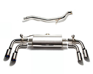 ARMYTRIX Stainless Steel Valvetronic Catback Exhaust System Quad Blue Coated Tips Audi TT | TTS Quattro MK2 8J 4WD 07-14