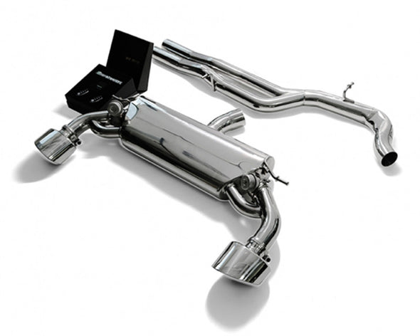 ARMYTRIX Stainless Steel Valvetronic Catback Exhaust System Dual Mattle Black Tips Audi RS3 8V 2.5L Turbo Sportback 15-17