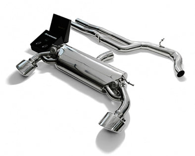 ARMYTRIX Stainless Steel Valvetronic Catback Exhaust System Dual Chrome Silver Tips Audi RS3 8V 2.5L Turbo Sportback 15-17