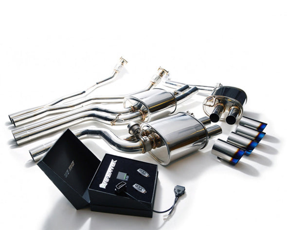ARMYTRIX Stainless Steel Valvetronic Catback Exhaust System Quad Matte Black Tips Audi A4/A5 | S4/S5 3.0L TFSI 09-15