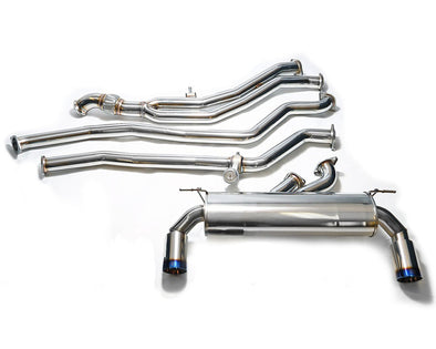 ARMYTRIX Stainless Steel Valvetronic Catback Exhaust System Dual Matte Black Tips BMW M135i | M235i F2x 12-15