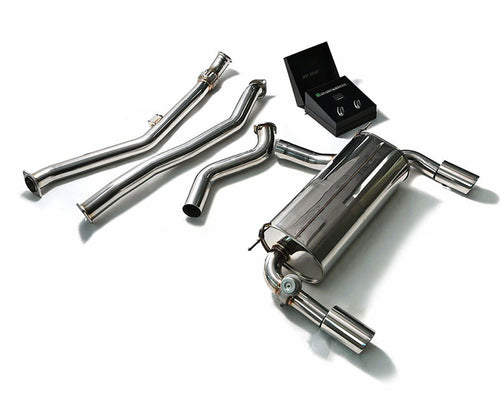 ARMYTRIX Stainless Steel Valvetronic Catback Exhaust Quad Chrome Silver Tips BMW 335i | 435i F3x 12-15