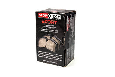 StopTech Sport Brake Pads With Shims Subaru STI 2004-2017 / Mitsubishi Evo / OEM Brembo Applications 309.10010