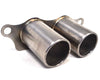 Agency Power Titanium Exhaust Brushed Tips Porsche 991 GT3 GT3RS 14-16