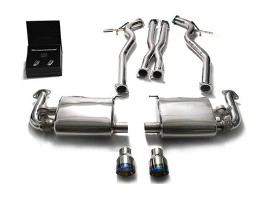 ARMYTRIX Stainless Steel Valvetronic Catback Exhaust System Dual Chrome Silver Tips Ford Mustang GT Coyote 5.0L V8 14-16