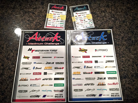 Attack Maximum Challenge Sponsor Stickers