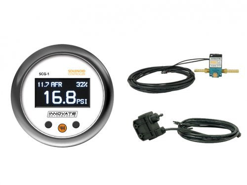 Innovate Motorsports Boost Controller SCG-1: Solenoid Controller w/Wideband Guage Kit