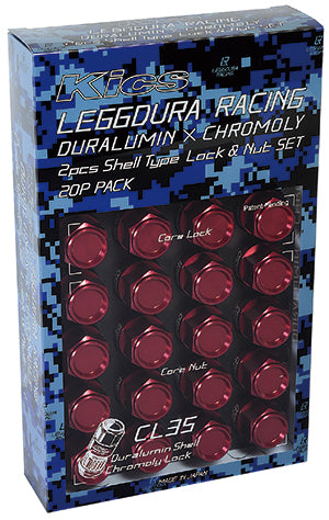 Project Kics Leggdura Shell Type Lug Nuts SHORT RL35 / CL35 (16+4 Locking)